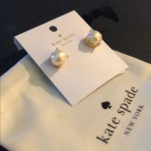 Kate Spade Gold Pearl Earrings